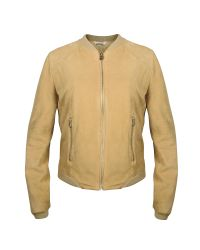 FORZIERI | Women's Light Brown Suede Zip Jacket | Lyst
