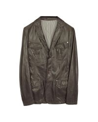 FORZIERI | Black Leather Blazer Jacket for Men | Lyst