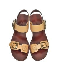 See By Chloé - Metallic Albicocca Leather Sandal - Lyst