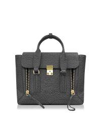3.1 Phillip Lim - Gray Pashli Ash And Charcoal Leather Medium Satchel - Lyst
