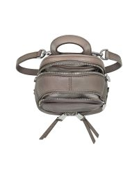 Michael Kors - Gray Rhea Zip Extra Small Leather Messenger Backpack - Lyst