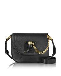 Michael Kors | Black James Medium Leather Saddlebag | Lyst