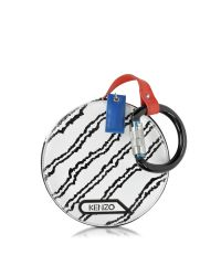 KENZO - White Embossed Snake Leather Round Pouch - Lyst