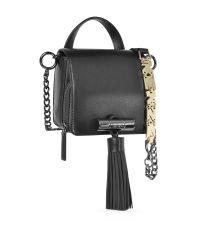 KENZO - Sailor Black Leather Crossbody Bag W/rubber Tassel - Lyst