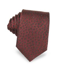 Lanvin | Red Abstract Woven Twill Silk Narrow Tie for Men | Lyst
