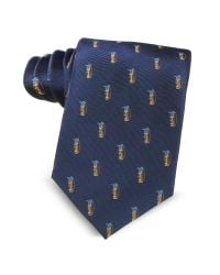 Marina D'este - Golf Bag Light Blue Woven Silk Men's Tie for Men - Lyst