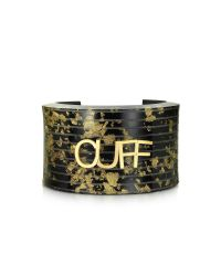 MM6 by Maison Martin Margiela | Metallic Black & Gold Resin Cuff | Lyst
