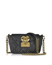Love Moschino   Black Quilted Mini Shoulder Bag   Lyst