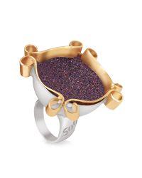 Naoto - Omaggio A Palladio Purple Ring - Lyst