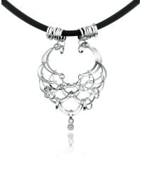 Orlando Orlandini - Scintille - Diamond Drop 18k White Gold Net Necklace - Lyst