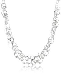 Orlando Orlandini - Metallic Scintille Anniversary - Diamond 18k White Gold Chain Necklace - Lyst