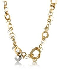 Orlando Orlandini | Metallic Fashion - Diamond 18k Rose Gold Chain Necklace | Lyst