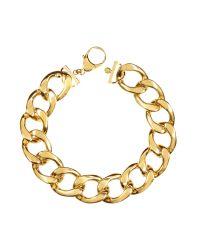 Pluma | Metallic The Gwyneth Golden Brass Link Necklace | Lyst