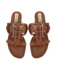 Emilio Pucci - Natural Ambra Leather Flat Sandal - Lyst