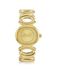 Just Cavalli | Metallic Double Jc 2h Champagne Dial Gold Stainless Steel Women's Watch | Lyst