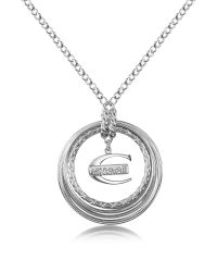 Just Cavalli - Metallic Infinity - Logo Pendant Chain Necklace - Lyst