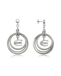 Just Cavalli - Metallic Infinity - Logo Charm Earrings - Lyst