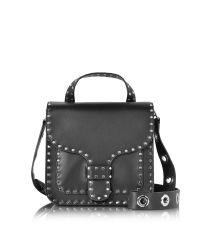 Rebecca Minkoff | Black Studded Leather Midnighter Top Handle Feed Bag | Lyst