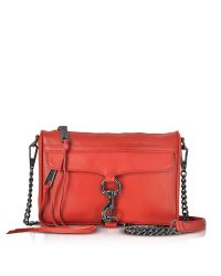Rebecca Minkoff | Red Blood Orange Leather Mini M.a.c. Crossbody Bag | Lyst