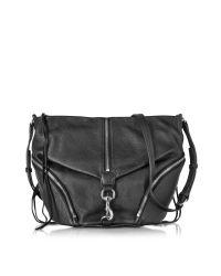 Rebecca Minkoff   Multicolor Black Pebbled Cowhide Leather Julian Messenger Bag   Lyst
