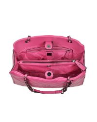 Roccobarocco - Pink Rb Cassata Fuchsia Eco Leather Quilted Bag - Lyst