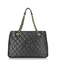 Roccobarocco - Natural Rb Cassata Black Eco Leather Quilted Bag - Lyst