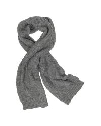 Paul Smith | Gray Men's Cable Knit Wool Blend Scarf | Lyst