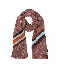Tory Burch | Red Gemini Link Striped Oblong Wool Scarf | Lyst