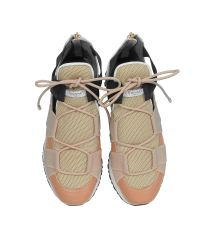 Vionnet - White Leather And Multicolor Elastic Bands Sneakers - Lyst