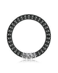 Vojd Studios | Metallic Umbala Black Chevron Flower Pendant Neckpiece | Lyst