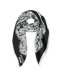 Moschino | White Boutique Lace Print Silk Square Scarf | Lyst
