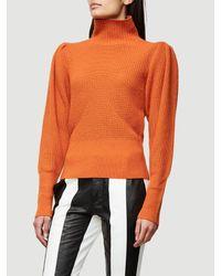 37ea4f701df31 FRAME Voluminous Sweater in Orange - Lyst