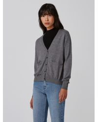 Frank And Oak - Gray Machine-washable Merino Cardigan In Grey Heather - Lyst