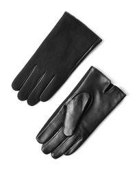 Frank + Oak - Wool & Leather Gloves In Black - Lyst