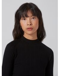 Frank And Oak | Machine-washable Merino Mockneck Sweater In Black | Lyst