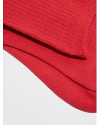 Frank And Oak | Mid-calf Ribbed Socks In Red | Lyst