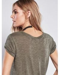 Free People - Gray We The Free Clare Tee - Lyst