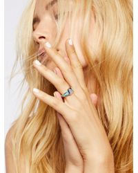 Free People - Metallic Stone Signet Ring - Lyst