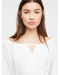 Free People - White Last Time Top - Lyst