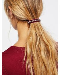 Free People - Multicolor Accessories Hair Accessories Velvet Pony Barrette - Lyst