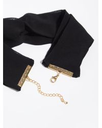 Free People - Black Twist Choker - Lyst