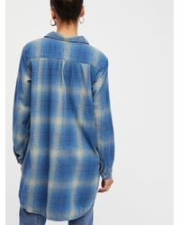 Free People - Blue Ash Flannel Tunic - Lyst