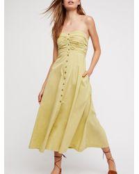 Free People - Yellow The Isha Tube Dress - Lyst