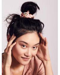 Free People - Pink Accessories Hair Accessories Hair Ties & Headbands Silk Brocade Scrunchie - Lyst