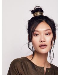 Free People - Metallic Engraved Bun Cuff - Lyst