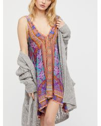 Free People - Multicolor In Dreams Trapeze Slip - Lyst