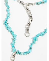 Free People - Blue Raquel Raw Stone Necklace - Lyst