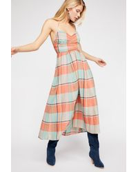 Free People - Multicolor Donna Plaid Maxi Dress By Endless Summer - Lyst