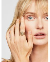 Free People - Metallic Lion Ring By Vanessa Mooney - Lyst