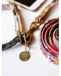 Free People | Metallic Etched Gold Dog Tags | Lyst